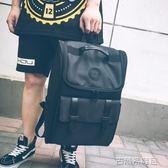 時尚潮流日韓版潮牌男士商務休閒電腦包後背背包大學生書包旅行包 古梵希igo