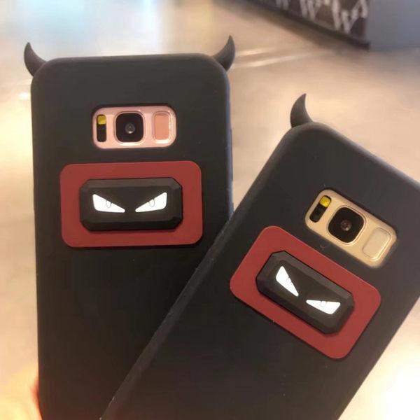 【SZ93】三星S8 手機殼 卡通矽膠小惡魔 s6 edge 手機殼 S7 edge手機殼 S8 plus手機殼 軟殼