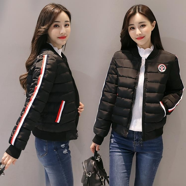 快速出貨 鋪棉外套 小棉衣女短款輕薄 時尚冬季韓版女士棉襖修身羽絨棉服外套
