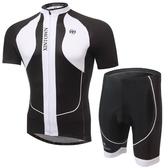 自行車衣-(短袖套裝)-超輕透氣防曬抗紫外線男單車服套裝3色73er10[時尚巴黎]