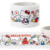 日本kitty紙膠帶裝飾膠帶蕾絲蘋果牛奶445150通販屋