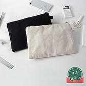 純棉帆布收納袋手拿包內膽包包中包【福喜行】