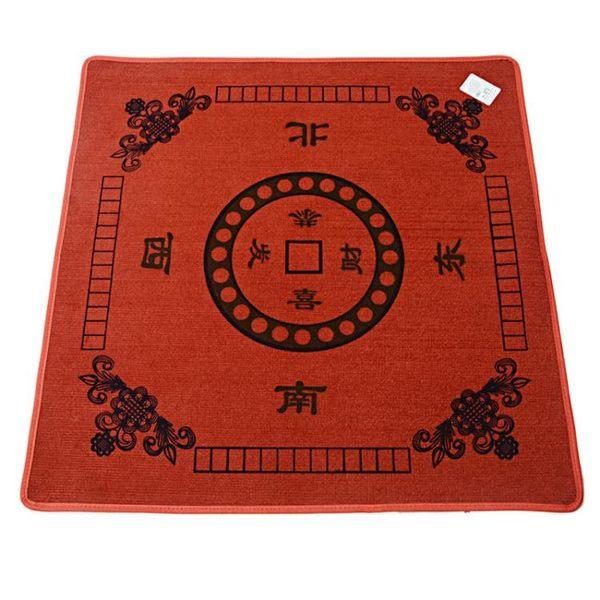 正方形桌布純色墊子新款麻將消音臺面打牌加厚鋪臺布撲克麻將墊墊 古梵希igo