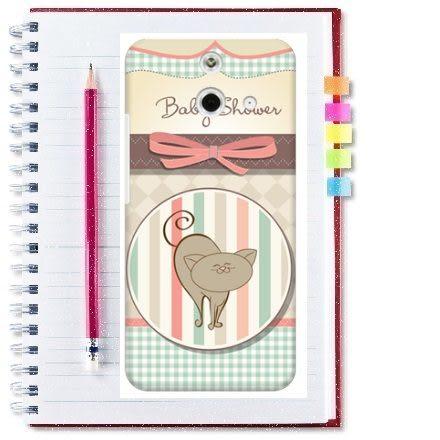 ♥ 俏魔女美人館 ♥ HTC One E8【微笑貓咪*水晶硬殼 】手機殼 保護殼 保護套 手機套