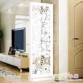 屏風 簡約現代時尚屏風創意隔斷裝飾櫃簡易客廳房間雙面行動門廳玄關櫃