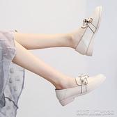 單鞋英倫小皮鞋女新款春款秋鞋百搭豆豆鞋兩穿樂福鞋淑女平底單鞋 【快速出貨】