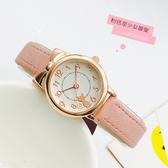兒童手錶女孩防水小學生初中女生韓版簡約可愛萌貓女童電子石英錶