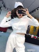 秋新款時尚休閒套裝女運動衛衣套裝褲女裝帥氣bf兩件套  凱斯盾數位3C