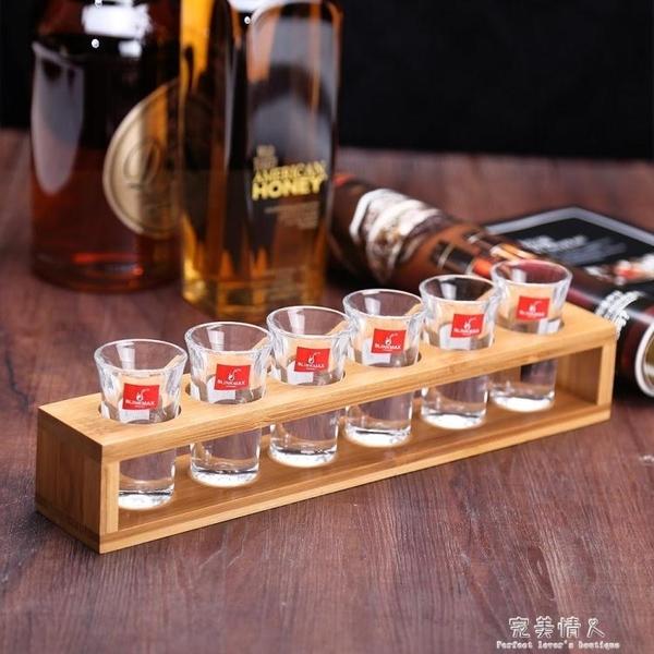 名器單排木杯架6孔子彈杯架 木質杯架酒架創意酒杯架雞尾酒杯架  【全館免運】