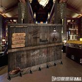 四扇 歐式復古屏風隔斷折疊折屏簡易玄關咖啡餐廳酒吧個性創意移動 印象家品旗艦店