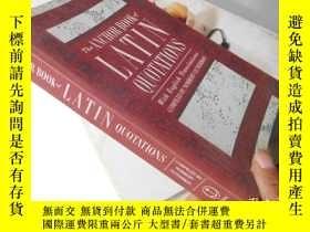 二手書博民逛書店The罕見Anchor Book of Latin Quotat