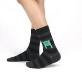 韓國 socks appeal® X SML 睡不飽小怪物 條紋中桶襪 (黑色)