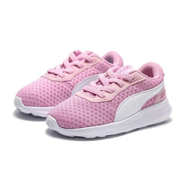 PUMA ST ACTIVATE AC LNF 粉紅 網布 鬆緊 布鞋 透氣 小童 (布魯克林) 36907104