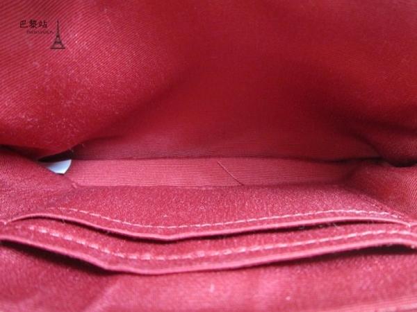 【巴黎站二手名牌專賣店】*全新現貨*COACH 真品*F58033 立體金字馬車大C織布拉鍊手拿包(紅邊)