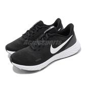 Nike 慢跑鞋 Wmns Revolution 5 女鞋 黑 白 基本款 運動鞋 【PUMP306】 BQ3207-002