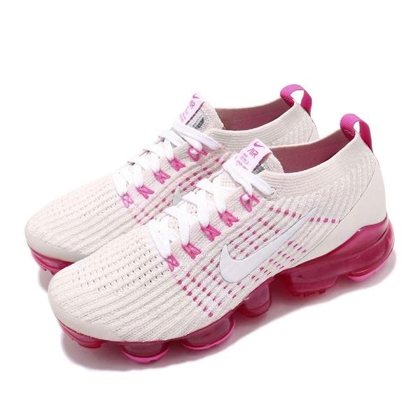 【五折特賣】Nike 慢跑鞋 Wmns Air VaporMax Flyknit 3 白 粉紅 大氣墊 運動鞋 女鞋【PUMP306】 AJ6910-005