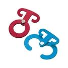 [UNIFLAME] 鋁合金輕巧營繩掛物器 紅藍各一(2入) (681671) 秀山莊戶外用品旗艦店