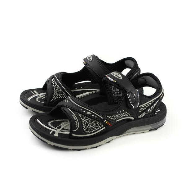 GP (Gold.Pigon) 阿亮代言 涼鞋 黑色 防水 雨天 男鞋 G7678M-10 no805