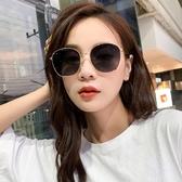新款墨鏡女韓版潮個性圓臉復古百搭防紫外線太陽鏡潮Mandyc