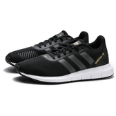 ADIDAS SWIFT RUN RF W 黑白 金LOGO 慢跑鞋 女(布魯克林) FW1646