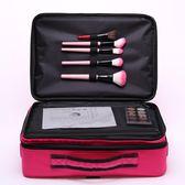限定款化妝包 專業大號三層化妝包化妝箱跟妝手提美容紋繡工具包防潑水韓jj