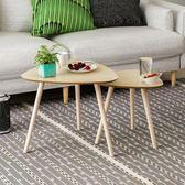 型室主義沙發邊桌小茶几簡約現代實木腿茶几小圓桌床邊桌邊几角几