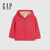 Gap女幼童 Logo仿羊羔絨連帽外套 594192-粉紅色