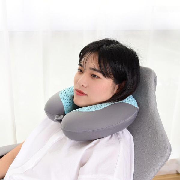 U型枕夏季凝膠冰枕記憶旅行枕頭護頸椎涼爽護頸椎U形旅行午睡枕 微愛家居