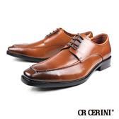 【CR CERINI】時尚造型帥氣真皮紳士鞋  咖啡(90372-DBR)