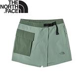 【The North Face 女 褲裙《灰綠》】4UCH/休閒短褲/褲裙/運動短褲