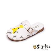 【樂樂童鞋】可愛動物拖鞋 S902 - 女童鞋 男童鞋 室內拖 大童鞋 涼鞋 包鞋