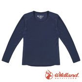 【wildland 荒野】中童 Highest彈性圓領保暖衣『深藍』H2660 戶外 休閒 運動 冬季 保暖 禦寒 內著
