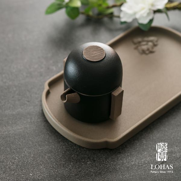 陸寶【如意隨手泡攜行裝】 一壺一杯一壺袋 仿石釉面及原礦材質完美結合