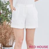 【RED HOUSE 蕾赫斯】素色反摺短褲(共2色)