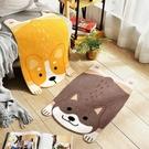 趴趴小犬造型地墊 約45cmX75cm(誤差約正負1cm) 棉床本舖