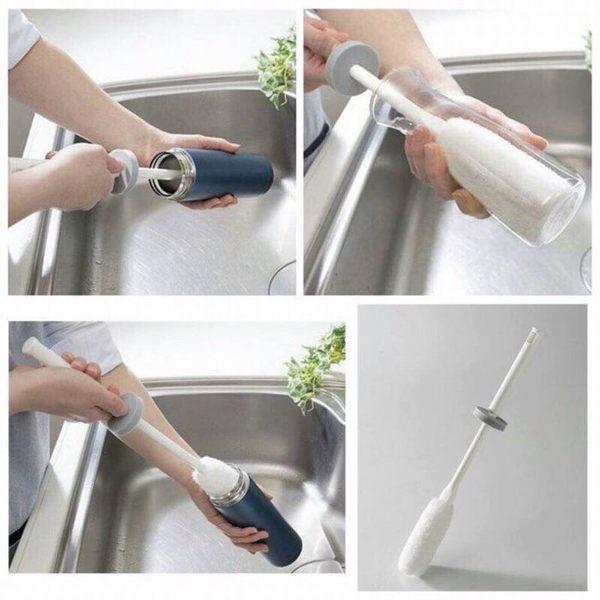 [霜兔小舖] 日本製 SANKO 保溫瓶清潔刷 水瓶清潔刷