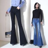 喇叭褲高腰破洞微喇叭牛仔褲女長褲顯瘦闊腿大喇叭褲 衣櫥の秘密