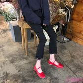 娃娃鞋 韓系新款可愛娃娃鞋顯瘦早春一字扣平底單鞋小皮鞋女(2色/35-39)
