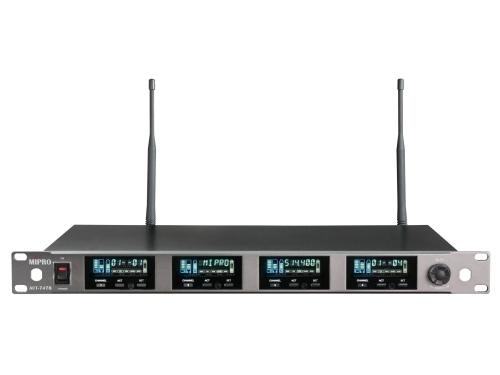 MIPRO ACT-747B / ACT-72H*4 ACT-VFD 1U四頻道純自動選訊無線麥克風組(新系統)