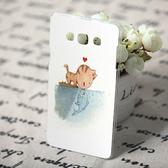 [機殼喵喵] 三星 Samsung Galaxy E7 SM-E700 手機殼 客製化 外殼 全彩工藝 SZ160 W 兩個世界 貓戀魚