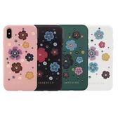 JANESPER Apple iPhone XR 6.1吋 加州花園 金屬鉚釘搭配立體花朵 設計師精品手機殼/保護套