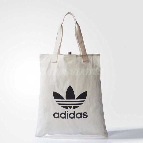 adidas 購物袋 Shopper Bag 黑 白 三葉草 Logo 環保 托特包 【PUMP306】 BQ7569