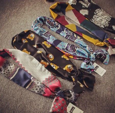 [協貿國際]  女士春季裝飾百搭潮流小圍巾夏季短絲巾 (1入)
