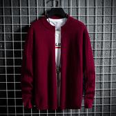 男生毛衣長袖加厚 厚款男士毛衣長袖上衣 男裝男款冬裝冬天保暖冬季打底衫 型男針織衫加絨
