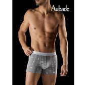 Aubade man-壞男人M-XL舒棉平口褲(香水灰)