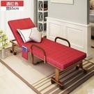 折疊床 折疊床單人辦公午休床雙人陪護加固金屬床雙人午睡沙發床2(主圖款酒紅色寬65CM)