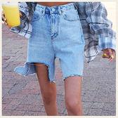 ✦Styleon✦正韓。個性破大洞高腰刷白抽鬚牛仔短褲。韓國連線。韓國空運。0501。