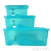 烏龜缸烏龜缸帶曬臺水陸缸塑膠中大型巴西龜缸養龜缸烏龜活體專用缸魚缸 LX交換禮物