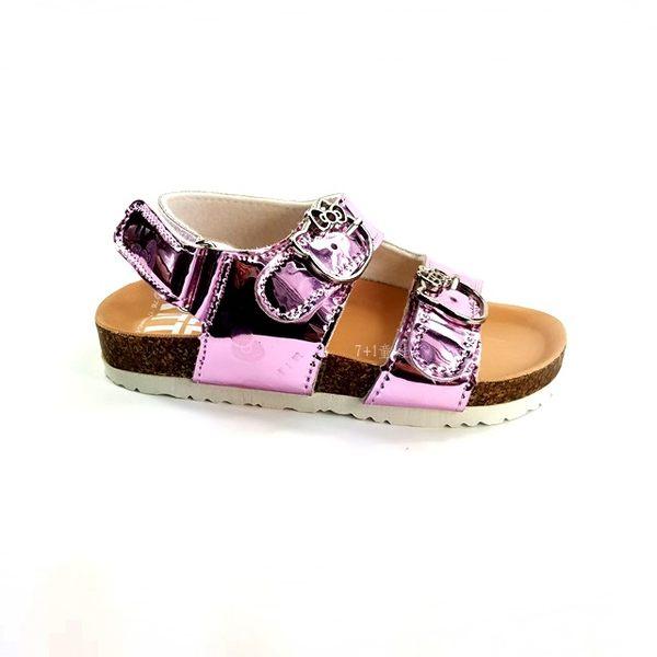 HELLO KITTY 粉亮晶彩 舒適休閒涼鞋 《7+1童鞋》D106粉色