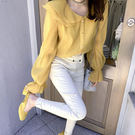 早秋季2019新款襯衫女設計感小衆寬鬆長袖娃娃領網紅法式雪紡上衣